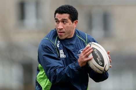 Muliaina has struggled to have an impact on the pitch for Connacht this season.