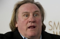 Gérard Depardieu relieves himself on flight headed for Dublin