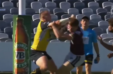 This league player produced some sickening collisions at the weekend