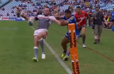 You haven't seen fine margins until you've seen this sensational rugby league try