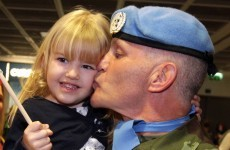 Joy and tears as Irish Golan Heights troops are reunited with their families