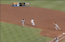 Watch: the weirdest play of the day