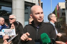 Paul Murphy was a bit concerned there wouldn't be enough bills to bin at his 'Bin your Bills' protest