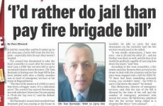 """Carlow councillor would """"rather do jail than pay fire brigade bill"""""""