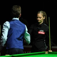 Ken Doherty beat the 10-time ladies' world champion in a thrilling qualifier last night