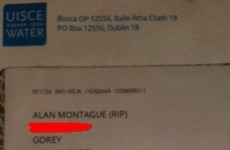 Irish Water apologises after sending letters to man six years dead