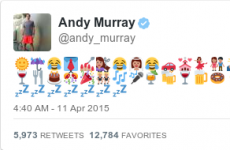 Andy Murray used 51 emojis to convey his wedding day excitement