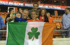 A few Irish fans turned out for the start of Steph Roche's American adventure last night