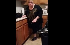 Every arachnophobe will sympathise with this woman's reaction to seeing a spider