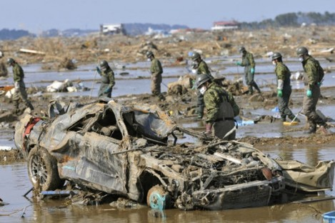 File photo dated 30 March 2011 taken in the Fukushima Prefecture, which suffered huge damage in the tsunami.