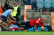There's a Fijian behemoth devastating Super Rugby who needs an army to take him to ground