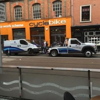 Oh nothing, just the clampers getting towed away in Dublin