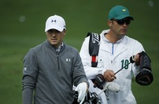 Jordan Spieth's caddy was a maths teacher not so long ago - yesterday he landed a windfall
