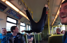 This lad's Dart stunt takes 'feet on the seats' to a whole new level