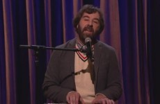 David O'Doherty performed on Conan last night and sang about how hard life is