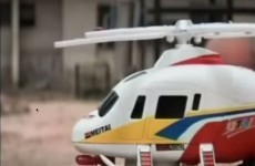 A toy helicopter has been employed for the cheapest shot in film history