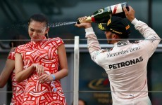 Shanghai podium girl plays down Hamilton incident
