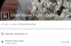 Over 6,000 people have signed up to take part in a giant pillow fight in Phoenix Park