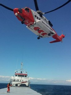Man rescued by coast guard after breaking his arm on boat