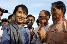 Aung San Suu Kyi meets with new Burmese president for first time