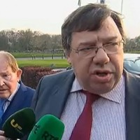 Brian Cowen made a rare public appearance, and was asked about the banking crash