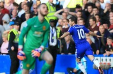 United dominant but Chelsea clinical as Hazard added another fine goal to his collection