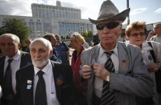 Small turnout for anniversary of Russian 'coup' which led to USSR's collapse