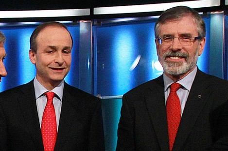 Micheál Martin and Gerry Adams in happier times