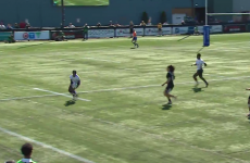 New Zealand just couldn't get a grip on Fiji Women 7s during this incredible try