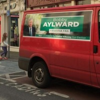 This untaxed van parked in a loading bay is 'not a Fianna Fáil campaign vehicle'