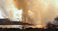 Smoke from a gorse fire blocked out the sun in Galway earlier