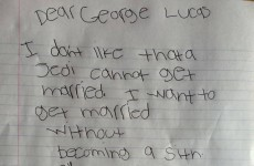 George Lucas responded to a little boy who asked him to allow Jedis to get married