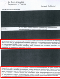 Here are the HEAVILY redacted documents that raise questions about IBRC's sale of Siteserv