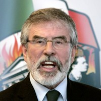 War of words: Gerry Adams had a massive go at Micheál Martin tonight