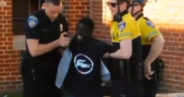 Outrage and protests after death of black man arrested by Baltimore police