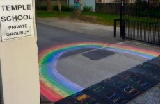 Dublin students had the perfect response to No posters outside their school
