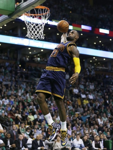 Watch this LeBron James windmill slam from last night's Cavs win and do yourself a favour