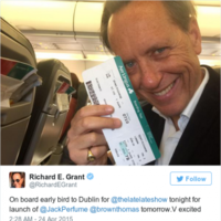 Richard E Grant is in Dublin and people are getting seriously excited
