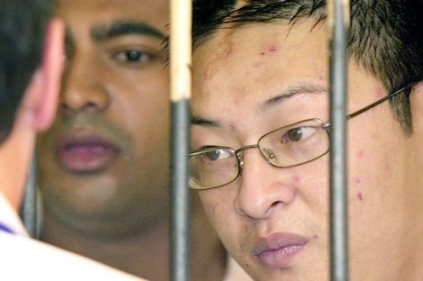 Condemned drug smugglers Myuran Sukumaran and Andrew Chan in 2006