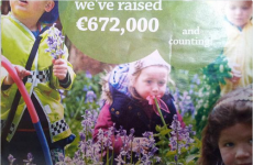 This picture of a little girl eating a flower in the Lidl catalogue is going super viral