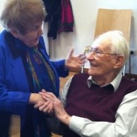 Pictured: The moment a Holocaust survivor shook hands with a former Nazi guard
