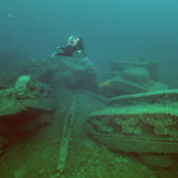 Amazing viral photo of an 'underwater tank graveyard' off Donegal: the story behind it