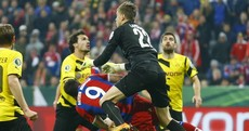 How was Robert Lewandowski allowed to stay on the pitch after this sickening clash?