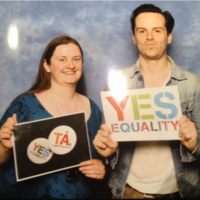 Irish star just bigged up the Yes campaign at a huge London Sherlock convention