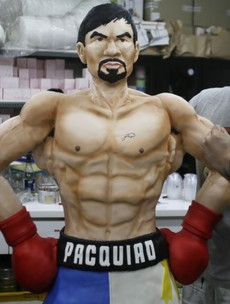 One baker hopes a Pacquiao victory tonight will be a piece of cake