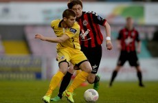 A controversial red card had Longford Town fuming after their tight clash with Derry City