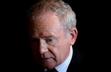 Paint bombs were thrown at Martin McGuinness's home last night