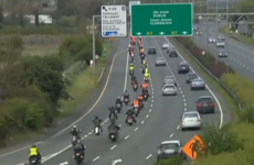 Dozens of motorbikes escort remains of Aidan Lynam home to Dublin