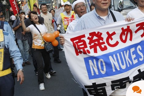 Anti-nuclear protesters in Japan earlier this year