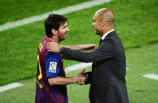 Guardiola: 'No defence can stop Messi, he's too good'